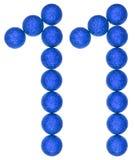 Tal 11, elva, från dekorativa bollar som isoleras på vitbac Royaltyfria Bilder