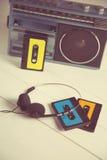 80-tal för tappningkassettradio Arkivbild