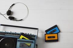 80-tal för tappningkassettradio Arkivfoto