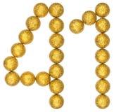 Tal 41, fyrtio en, från dekorativa bollar som isoleras på vit Royaltyfri Bild