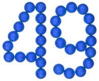 Tal 49, fyrtionio, från dekorativa bollar som isoleras på vit Arkivfoton
