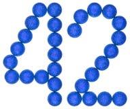 Tal 42, fyrtiotvå, från dekorativa bollar som isoleras på vit Arkivbilder