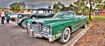 70-tal gör grön Cadillac eldorado Arkivbilder