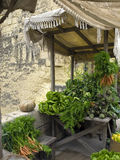 Tal-Haxix. A variety of fresh agricultural produce displayed for sale at a medieval market Royalty Free Stock Photos
