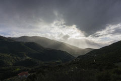 Tal im Peleponnese Stockbild