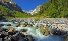 Tal in Kaukasus stockfoto