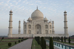 Tal Mahal. Agra, India. Look at to Taj Mahal with pool and trees royalty free stock images