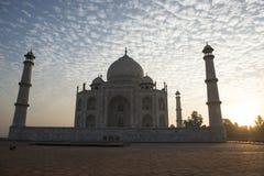 Tal Mahal backlighting agra india Royaltyfri Foto