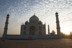 Tal Mahal-het backlighting Agra, India Royalty-vrije Stock Foto