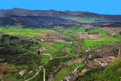 Tal in Ronda, Spanien Stockfotografie