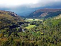Tal in Schottland Stockbild