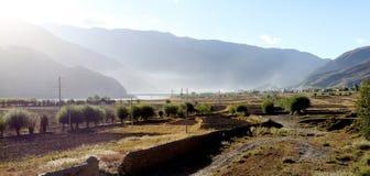 Tal in Tibet Lizenzfreies Stockbild