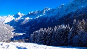 Tal von Chamonix Stockfotos