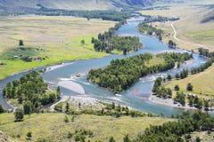 Tal von Chulyshman, Akkurum, Altai Russland Stockbild