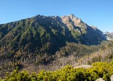 Tal von fünf Spis Seen Hohe Tatra Berge, Slowakei lizenzfreie stockfotografie
