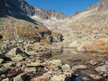 Tal von fünf Spis Seen Hohe Tatra Berge, Slowakei lizenzfreie stockbilder