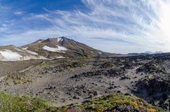 Tal von Gorely-Vulkan Lizenzfreies Stockbild