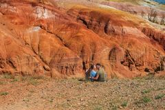 Tal von Mars-Landschaften lizenzfreies stockbild