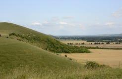Tal von Pewsey Wiltshire england Lizenzfreies Stockbild