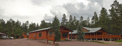 A Tal Wi Wi Lodge Near Alpine, Arizona Stock Photo