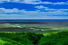 Tal zum Süden Nationalparks Skaftafell stockbilder
