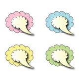 Tala bubblor Fotografering för Bildbyråer