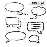 tala och drömma bubblan vektor illustrationer