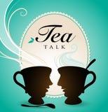 tala tea Arkivfoton