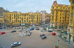 Talaat Harb广场在开罗,埃及 库存照片