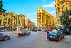 Talaat Harb广场,开罗,埃及豪宅  库存图片