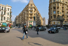Talaat Harb Square in Cairo Royalty Free Stock Photos