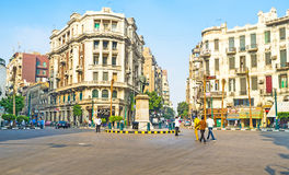 The Talaat Harb Square Stock Image