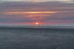 Talacre海滩, Clwyd,威尔士,英国 库存照片