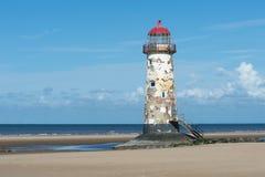 Talacre Beach Lighthouse stock photography