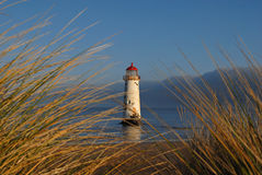 Talacre Lighthouse through the dunes Stock Images