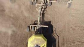 Taladro de semilla neumático almacen de metraje de vídeo