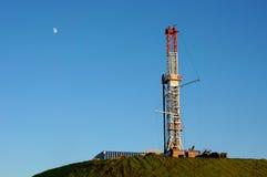 Taladro del gas en cumbre Foto de archivo