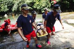Taladro del rescate del agua Imagenes de archivo