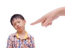 Taladro descontentado del muchacho imagen de archivo