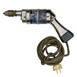 Taladro eléctrico de la vendimia Imagen de archivo libre de regalías