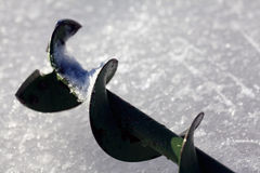 Taladro para la pesca del hielo Fotos de archivo libres de regalías