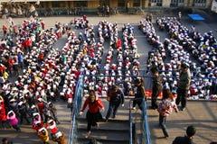 Taladros de evacuación celebrados Imagen de archivo