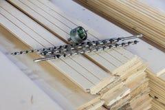 Taladros para de madera Fotos de archivo libres de regalías
