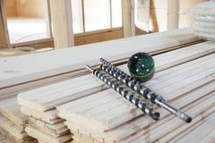 Taladros para de madera Imágenes de archivo libres de regalías