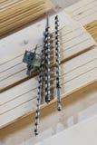Taladros para de madera Foto de archivo libre de regalías