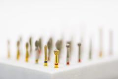 Taladros y sistema de cepillos dentales Fotografía de archivo
