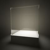 Étalage en verre vide lumineux Photo libre de droits