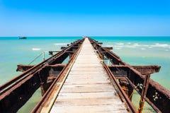 Talaimannar码头,斯里兰卡 免版税图库摄影