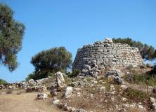Talaiot i Talati de Dalt, Menorca, Spanien Arkivbilder