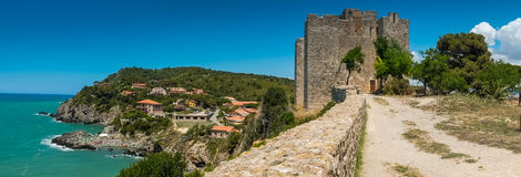 Talamone, Grosseto - view and panoramic scene Stock Image